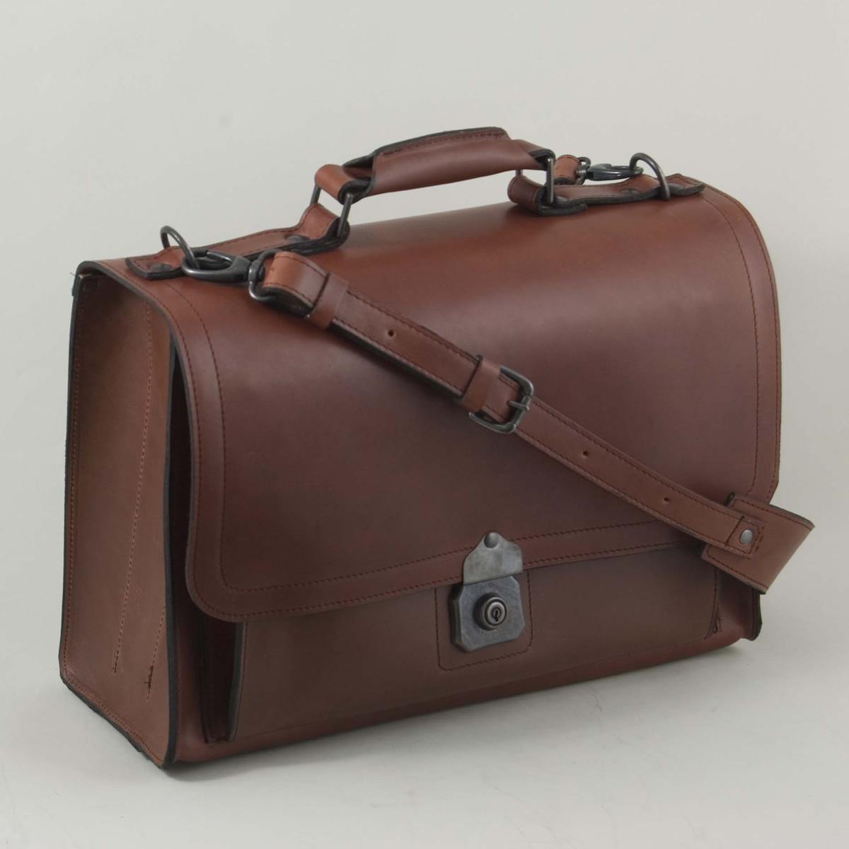 Handmade Leather Briefcase Satchel Henry Tomkins