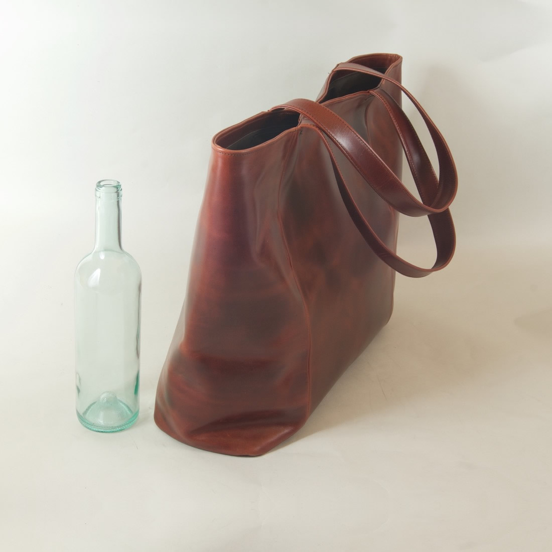 Handmade Leather Tote Bag - Extra Large