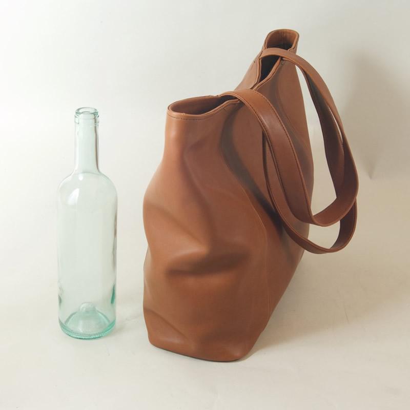 Handmade Leather Tote Bag - Large
