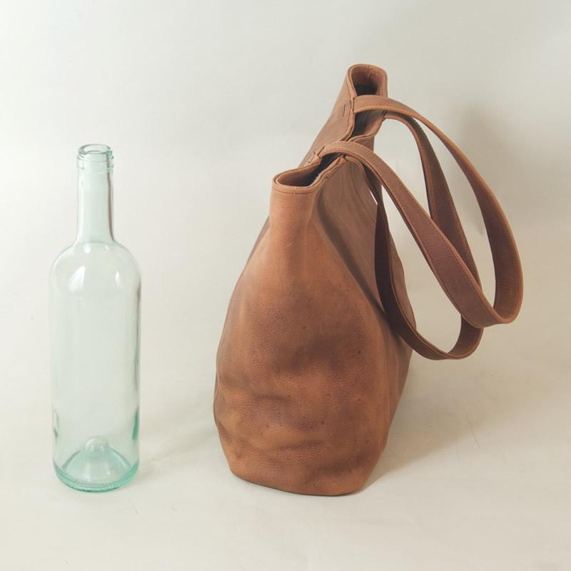Handmade Leather Tote Bag - Medium
