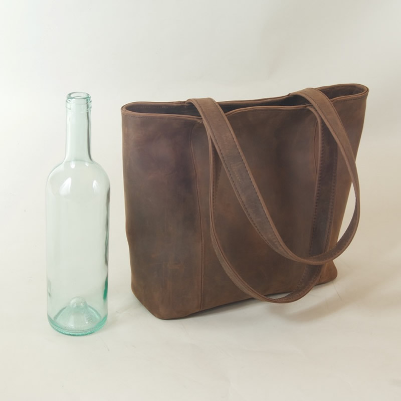 Handmade Leather Tote Bag - Small
